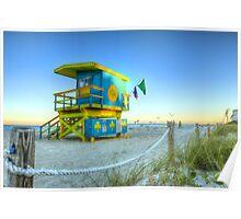 Irish Clover Lifeguard House Miami Beach Poster