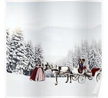 Winter romance. Poster