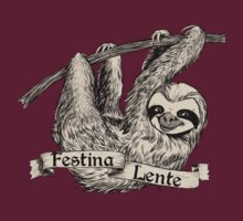 Festina Lente Three-Toed Sloth by Veronica Guzzardi