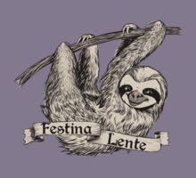 Festina Lente Three-Toed Sloth Kids Tee