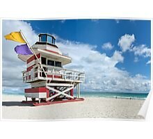 Candy Stripe Lifeguard House Poster