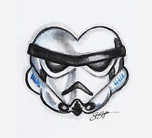 Storm Trooper Star Wars Heart by samskyler