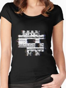 Glitch Skull Women's Fitted Scoop T-Shirt