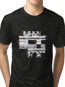 Glitch Skull Tri-blend T-Shirt