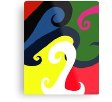 Abstract Wave Riot Metal Print