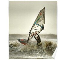 Lyme Bay Windsurfer Poster