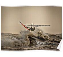 Flying Windsurfer Poster