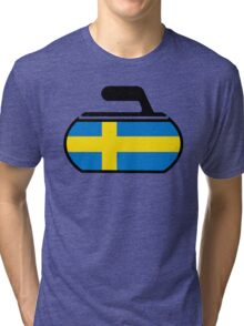 Sweden Curling Tri-blend T-Shirt