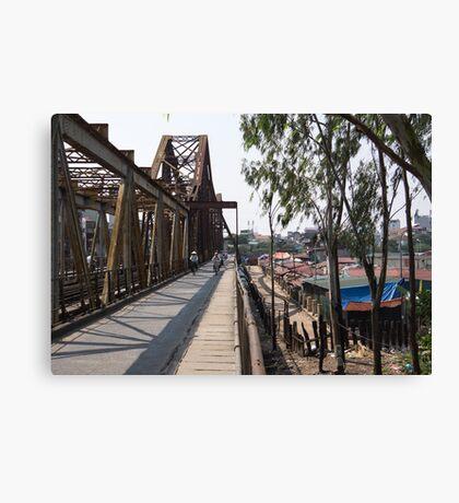 long bien bridge Canvas Print
