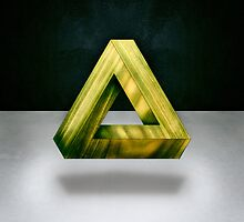 Penrose Triangle Green by YoPedro