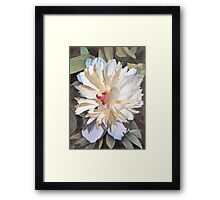Feathery Flower Framed Print