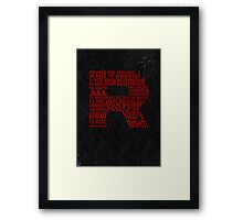 Team Rocket R Typography Framed Print