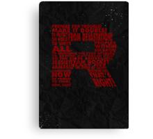 Team Rocket R Typography Canvas Print