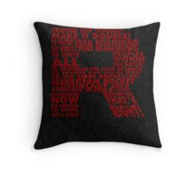 Team Rocket R Typography Throw Pillow
