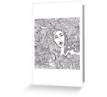 Color by number day dreamer Greeting Card