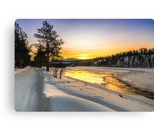 Sunrise in Arctic Norway Canvas Print