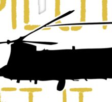 Up Faster Chinook Sticker