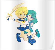 Chibi Sailor Uranus and Chibi Sailor Neptune Poster