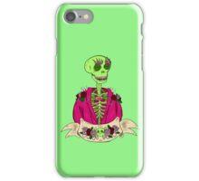 Spooky Stylish Skeleton- Green iPhone Case/Skin