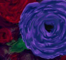 Live Different - Floral Sticker