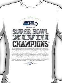 SEAHAWKS CHAMPIONS T-Shirt