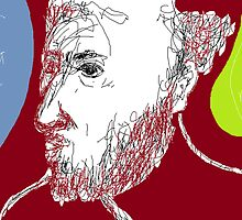 Self-portrait/(memory) -(080214)- Digital artwork/MS Paint by paulramnora