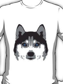 Husky Face Blue Eyes T-Shirt