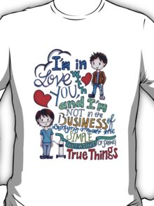 "The Fault In Our Stars (TFIOS) - ""I'm In Love With You..."" T-Shirt"