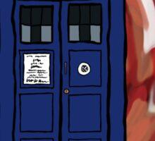 The TARDIS in the Time Vortex Sticker