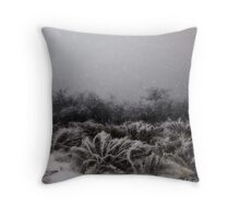 """Winter Snowstorm"" Throw Pillow"