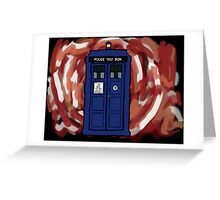 The TARDIS in the Time Vortex Greeting Card