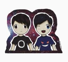 Danisnotonfire and AmazingPhil Chibi by sherlockedphan