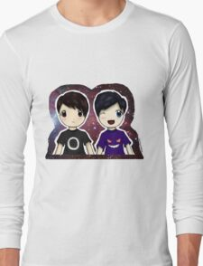 Danisnotonfire and AmazingPhil Chibi Long Sleeve T-Shirt
