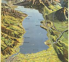 Vintage poster - Lake of Thun by mosfunky