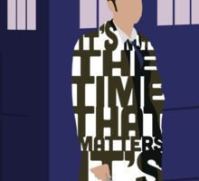 Doctor Who with TARDIS Sticker