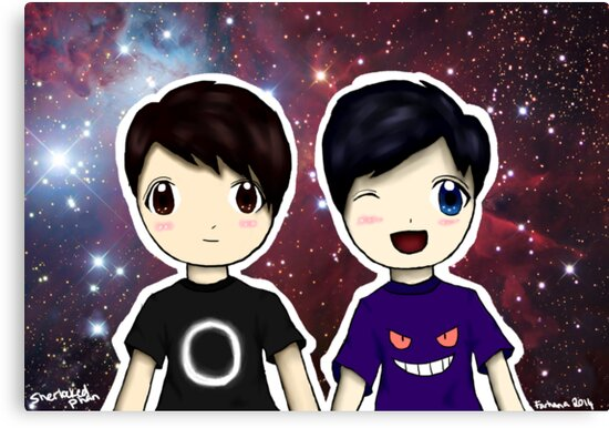 Danisnotonfire and AmazingPhil Chibi by Farhana Bashar