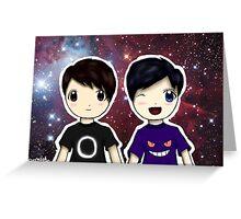 Danisnotonfire and AmazingPhil Chibi Greeting Card