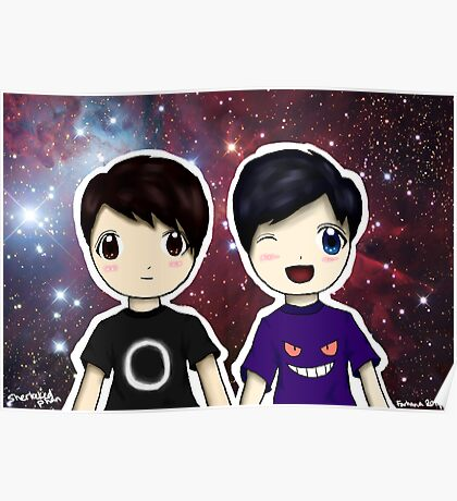 Danisnotonfire and AmazingPhil Chibi Poster
