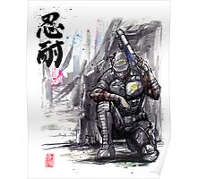 Admiral Anderson from Mass Effect with Japanese Calligraphy Poster