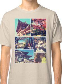 Nara Japan Todai-ji Deer Park Buddha Autumn Collage Classic T-Shirt
