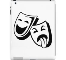 Comedy and Tragedy Masks iPad Case/Skin