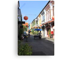 Rush Hour in Phuket Town Canvas Print