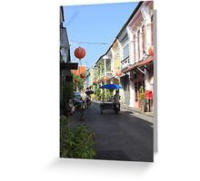 Rush Hour in Phuket Town Greeting Card