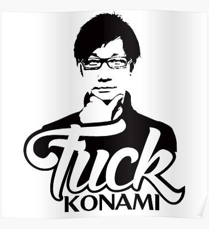 Hideo Kojima F*CK KONAMI Poster