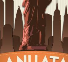 Manhatan Retro-style Badge (Inspired by Fringe) Sticker
