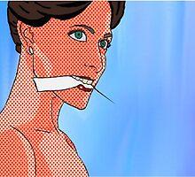 Irene Adler (BBC Sherlock) Pop Comic Art by HellaShezza