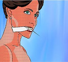 Irene Adler (BBC Sherlock) Pop Comic Art by HellaShezza