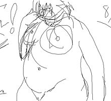 Female Nude: Fat Gurl -(080214)- Digital artwork/MS paint by paulramnora
