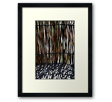 Bamboo screen Framed Print