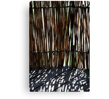 Bamboo screen Canvas Print